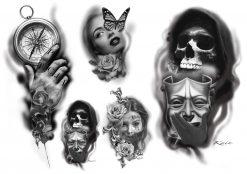 Gnuggisar ritade av tatuerare